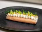 Photo Tourteau de Roscoff en gelée de homard persillé, fouetté de fenouil et de corail - Le Sergent Recruteur
